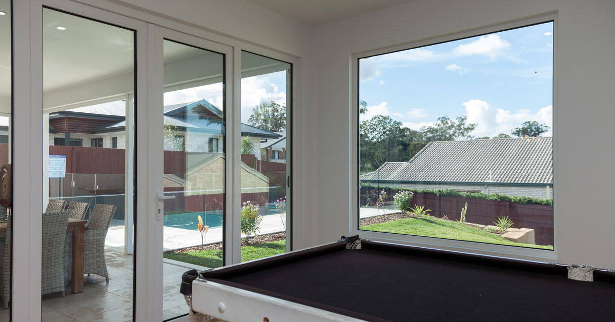 Choose uPVC and double glazing for noise reduction